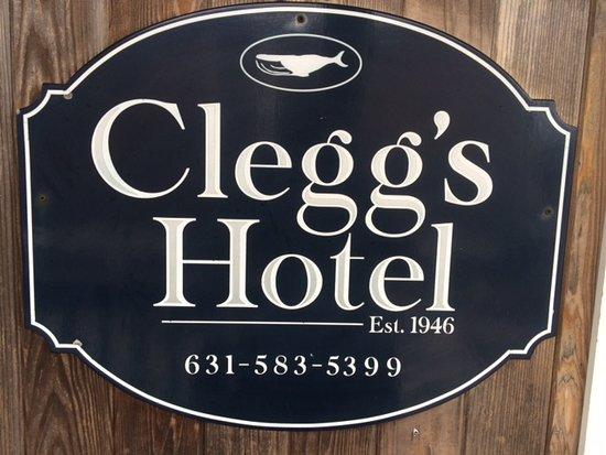 Ocean Beach, NY: Clegg's Hotel Entrance Sign