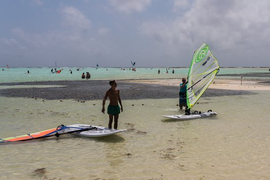 Bonaire Windsurf Place: The water is very shallow quite a ways out