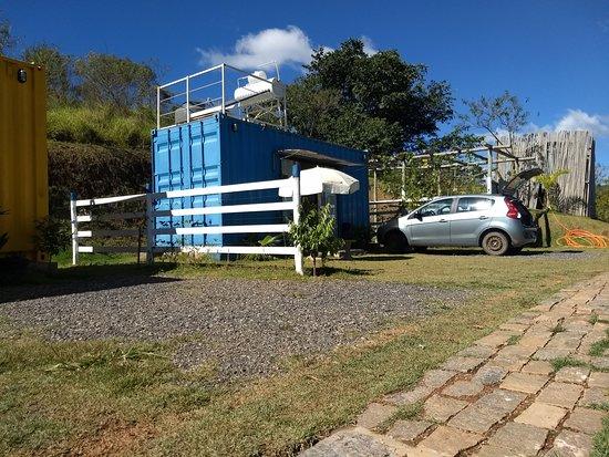 Pousada Recanto dos Bentos: Container onde nos hospedamos.