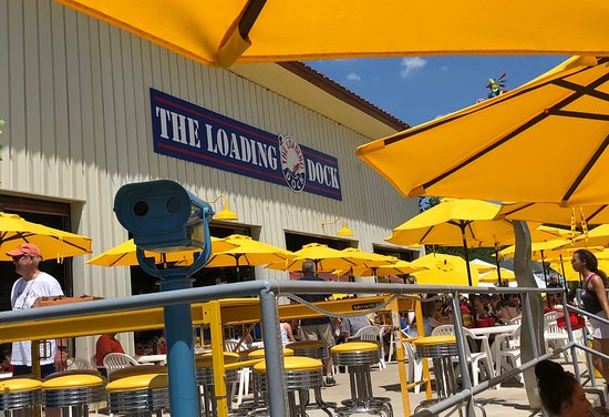 The Loading Dock Bar and Grill : Patio of The Loading Dock
