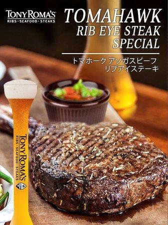 Tony Roma's: Tomahawk Ribeye Steak Special