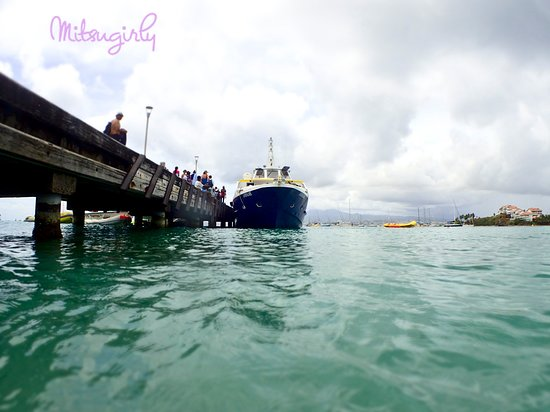 Anse Mitan: the pier
