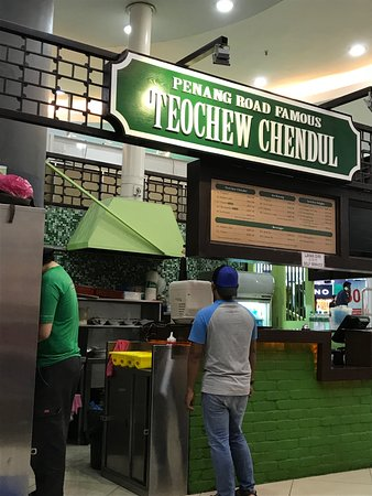 Penang Road Famous Teochew Cendol: At a food court