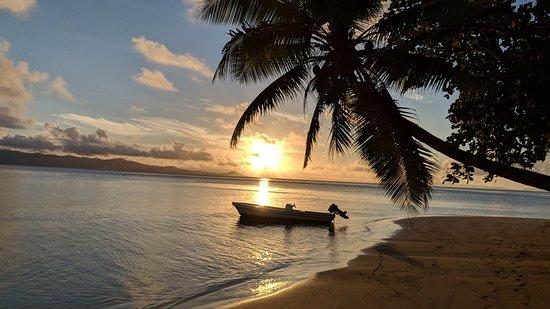 Matangi Island, Fiji: one of many beautiful sunsets