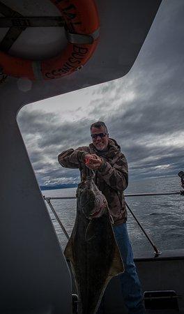 O'Fish'ial Charters of Alaska: Big Halibut for Chris
