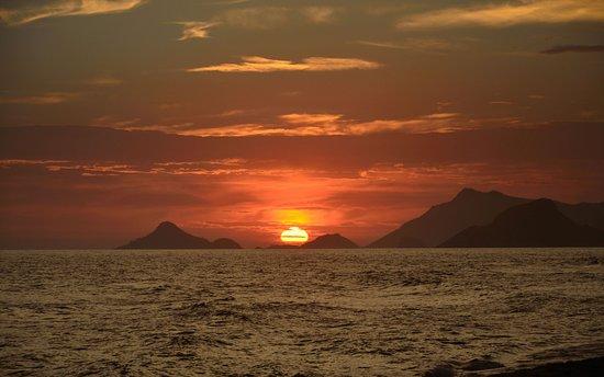 Barra da Tijuca Beach: Pôr do Sol no verão,