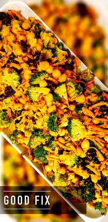 Good Fix South: Curried Broccoli and Chickpea Salad