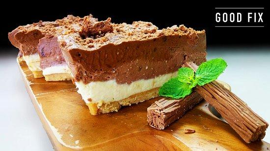 Good Fix South: White, Milk & Dark Chocolate Cheesecake