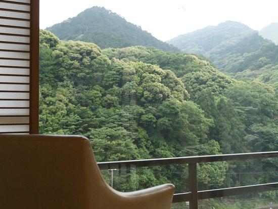 Otani Sanso: 視線の先にひろがるなだらかな稜線。山水画のような静な時を創造してくれます。ゆっくりと流れる雲をみながら、休日のひとときをお過ごしくださいませ。