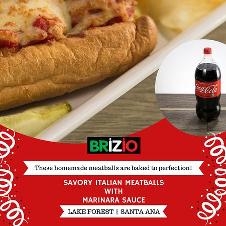 Brizio's Pizza: Savory Italian Meatballs with Marinara Sauce will give extra taste to your treat! Just order onl