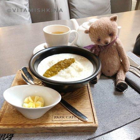 Restaurant Park Cafe: каша рисовая на кокосовом молоке с манго