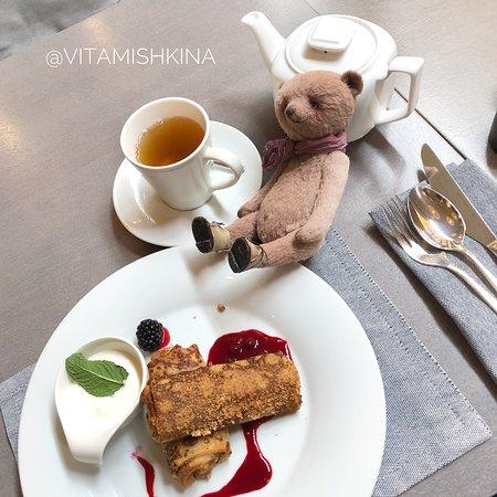 Restaurant Park Cafe: хрустящие блинчики с творогом