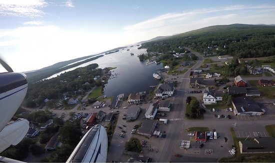 Beautiful Greenville Maine / Moosehead Lake captured from Jack's Cessna 180 (July 2016)