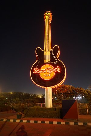 Hard Rock Cafe: At the entrance to DLF PLace