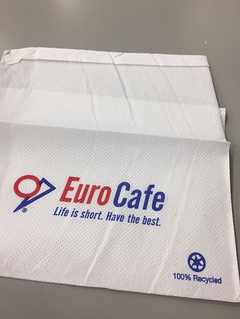 Hudson News-Euro Cafe: How ironic is the the slogan when the food served is barely average!