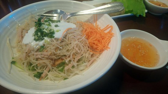 Saigon Kitchen : Shredded Pork with Thick Noodles and Coconut Sauce