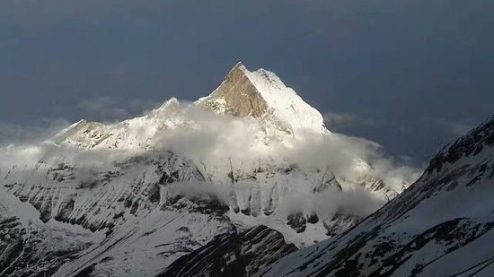 Ocean to Sky Adventures : view of MT. Fishtail from Annapurna Base Camp