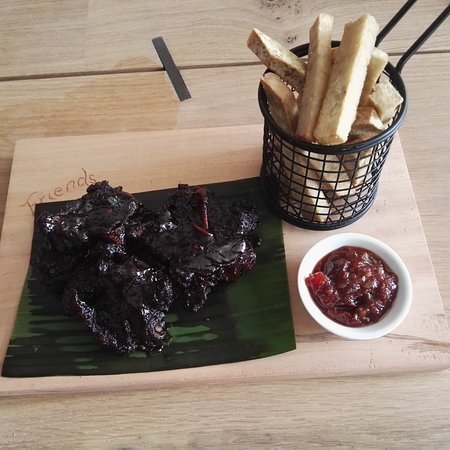 Slow cooked beef ribs at Friends Cafe