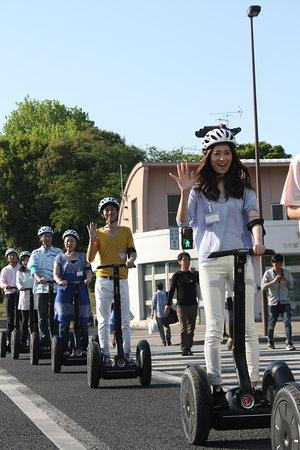 Segway City Guide Tour in Tsukuba: 横断歩道。