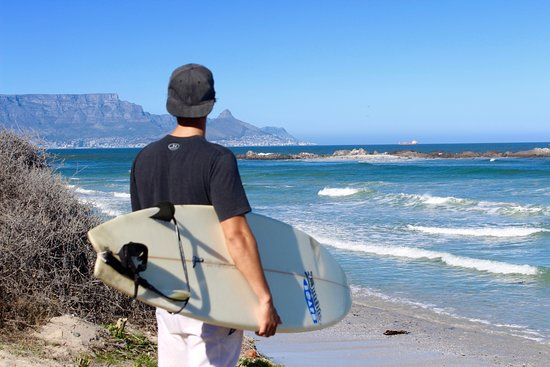Alocal: This was taken of my guide at Big Bay beach in Bloubergstrand before we jumped in!