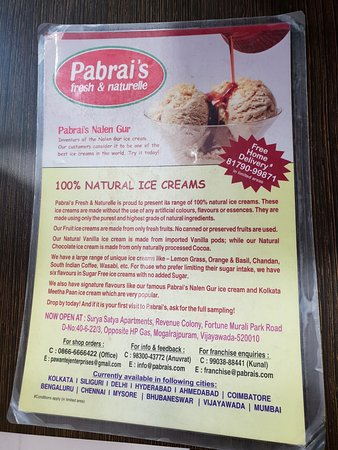 Pabrai's fresh and naturelle ice creams : 100 % Natural