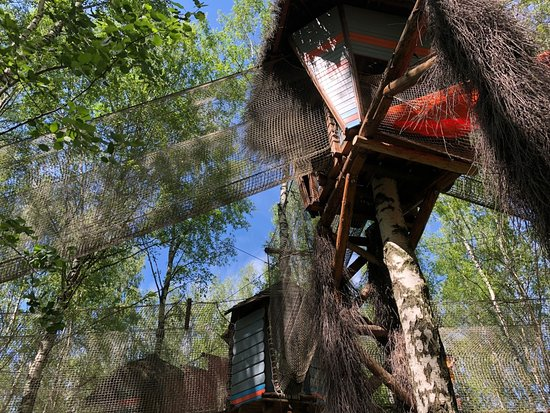 Sokolnikovo, Rosja: домики на деревьях 2