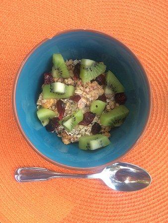 Castillon-du-Gard, Frankrike: De bonnes céréales pour le petit déjeuner
