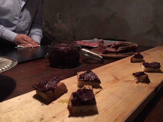 Bottega Pecchioli: Paolos's olive spread on fresh home baked bread