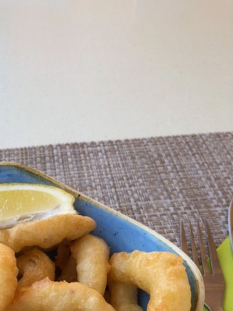Restaurant Denver Cambrils: Calamari rings. Melt in the mouth fresh.