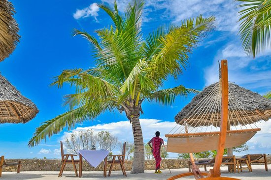 White Paradise Zanzibar: Its private beach and relaxing area