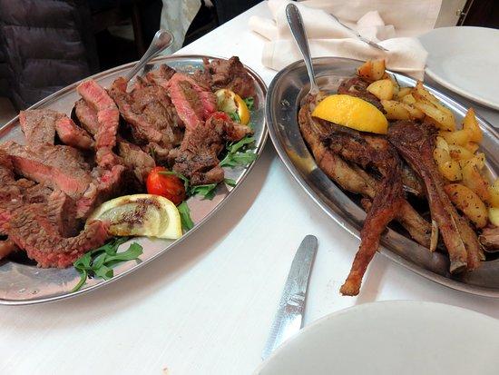 Rotella, อิตาลี: Tagliata di manzo e agnello con patate