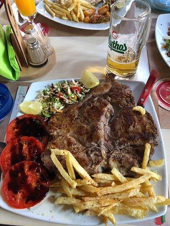 Kalia Beach Hotel: T-bone steak in Pella Taverna