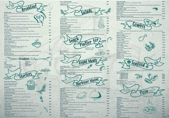 Dockside Cafe Harties: menu