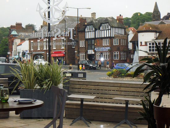 The Star Inn The Harbour : One of the views of Whitby town from the restaurant's bay window.