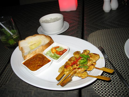 River Barge: Chicken satay