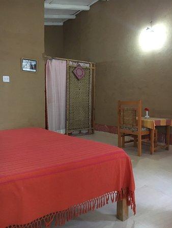 Ek Chidiya Cottage: Jute weavings on screen and chair