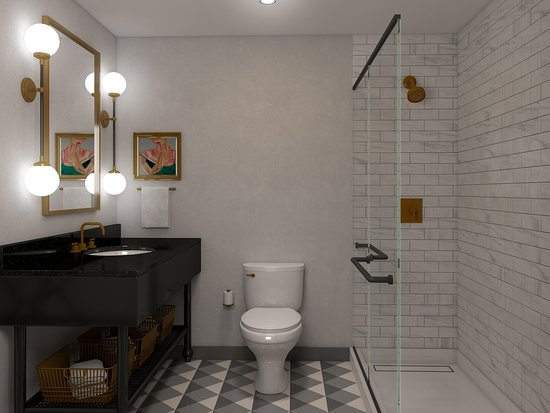 Pearl River, NY: Renovated bathroom (also available with tub)