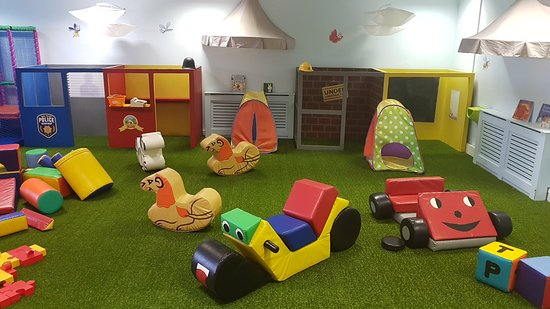 Tots Tower: Out tots play area with role-play buildings