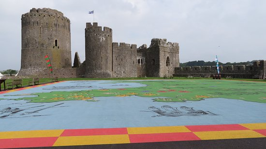 Pembroke Castle: View from the entrance