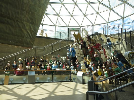 the figurehead collection underneath the Cutty Sark