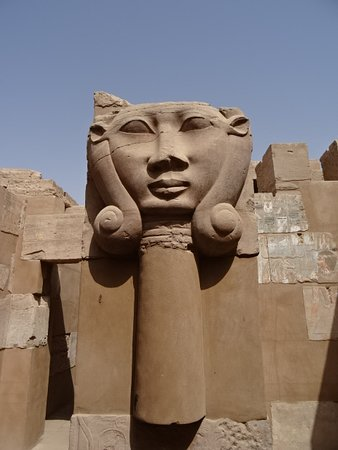 Elephantine Island: One of the statues near the temple ruins