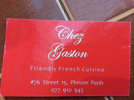 Chez Gaston: Business card