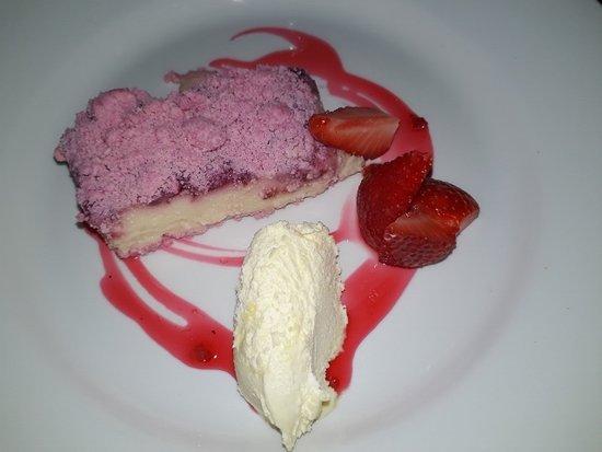 The Crooked Chimney: Milkshake cheesecake with clotted cream