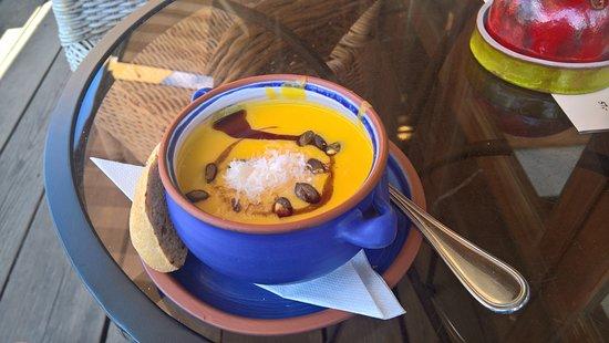 Pizzerie AndEl: Dýňová polévka