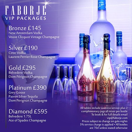 Faborje Bar and Grill: VIP PACKAGES