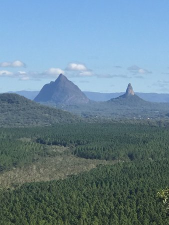 Coochin, Australia: Overlooking the forests and remaining Glasshouse Mountains