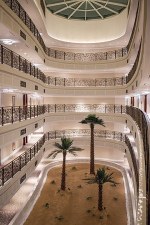Waldorf Astoria Dubai Palm Jumeirah : Aussicht aus dem Fahrstuhl