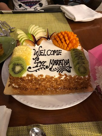 ITC Maratha, Mumbai - a Luxury Collection Hotel: A fruit cake; Thanks team Maratha for the wonderful gesture