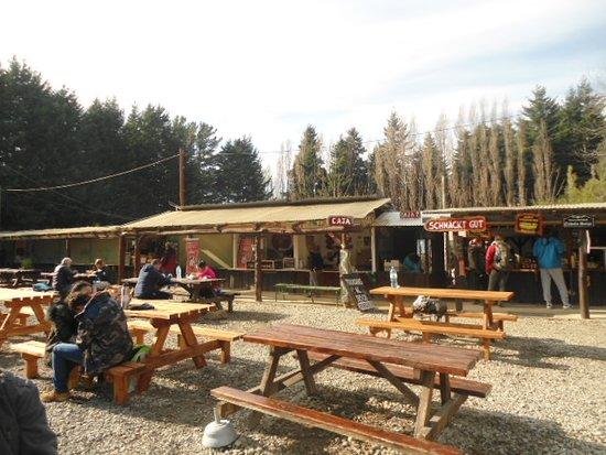 Colonia Suiza: los puestos de comidas