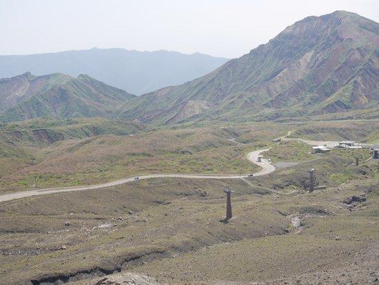 Mt. Aso Ropeway: ロープウェイの鉄塔